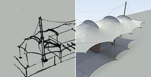 Proceso Integral en la Materialización de las Cubiertas Tensadas en la Arquitectura Textil