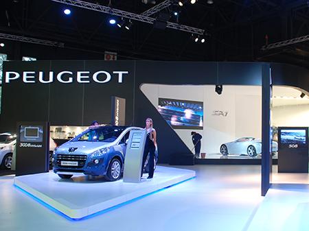 Stand PEUGEOT, Salón del Automóvil 2011